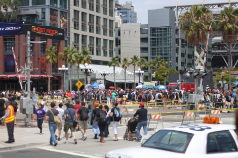 Streets are shut down and opened up to the masses, one of the highlights of SDCC is, in fact, its street life!
