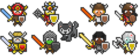 Look at the adorable little sprites you can make for yourself! They're awesome!