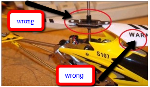 This is the fake, you can see the crappy rotor attachment and the simple warning label.