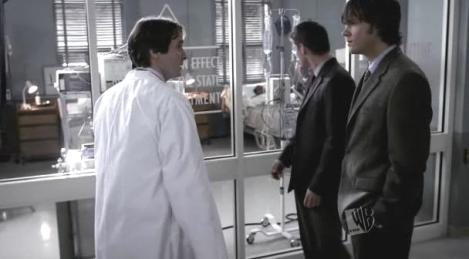 Blast from the Past: Adrian Hough as Dr. Hydecker back in season one.