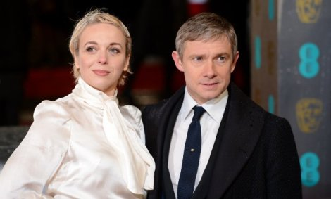 Abbington and Freeman are real life partners. The couple has two young children.
