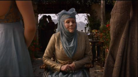 The Queen of Thorns is here to assess the situation with tolerance and lemon cakes.