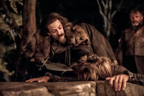 Unfortunately, he does not save himself from his misery. Good bye, Jaime's hand.