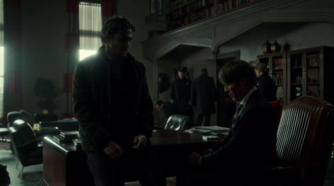 Will even tries to make eye contact with Hannibal. They just care so much. They even have matching cuts on their arms now. BROTP. ... Horribly, horribly fated brotp.