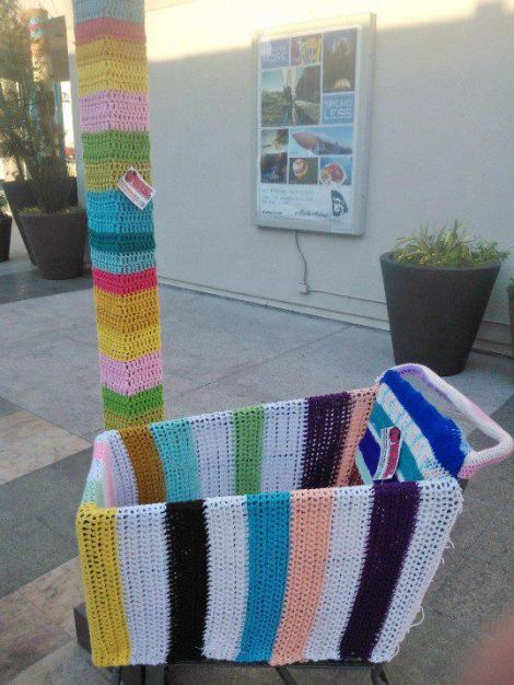 Part of the Westfield Mall installation, a previous project that Crochet Grenade has completed with the help of donations from other crocheters.