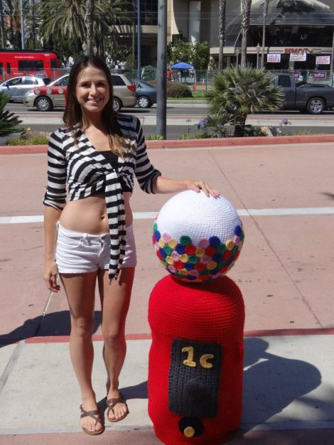 Marcy with her gumball machine from San Diego Comic Con 2012. Did anyone see it?