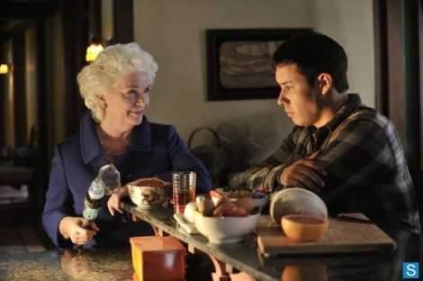 It's like a visit from grandma! A grandma that knows you've killed her right hand man!
