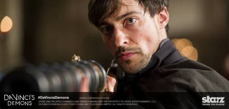 Riario fires a freakin' rocket at the door. Is this the weapon they were developing for fighting in the city?