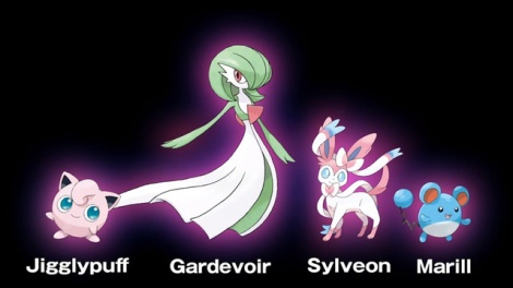 """A few of the Pokémon that will be classified under the new """"Fairy"""" type."""