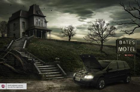 The Bates Motel, sponsored by Fiat. Killed by Norman.