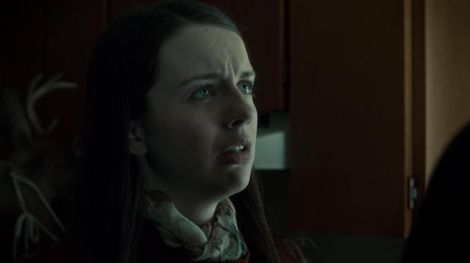 This is the face of someone finding out who Hannibal really is and what he's done and what he's going to continue to do. At least he didn't tell her that he's been feeding all those people he killed to her? (Though she did take the information that her father had been feeding her college co-ed butter and meat like a champ so who knows. That might have gone over all right all things considered.)
