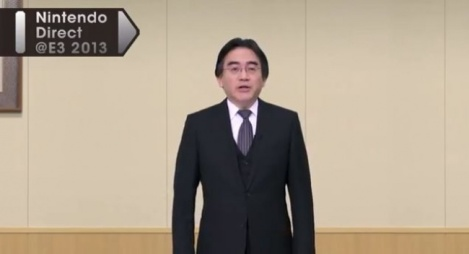 What is he doing in an empty conference room on the 7th floor of the Nintendo headquarters in Kyoto? Hiding from angry Nintendo fanboys?