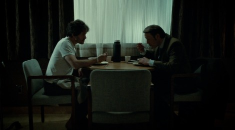 Such a nice little parallel with that time Hannibal made Will breakfast in the first episode. Which was also made of people.