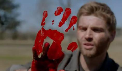 I mean, if you accidentally stick your hand in the bloody remains of half a cow I guess you might as well use that blood for something productive. Finger paint!