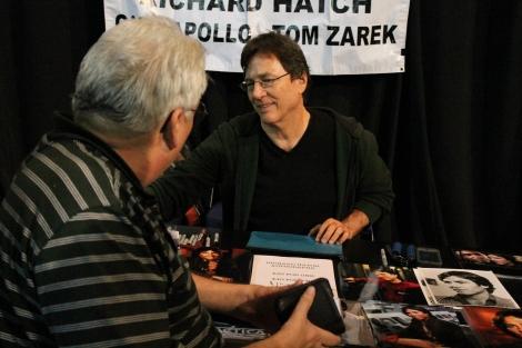 Battlestar Galactica's Richard Hatch meets and greets.
