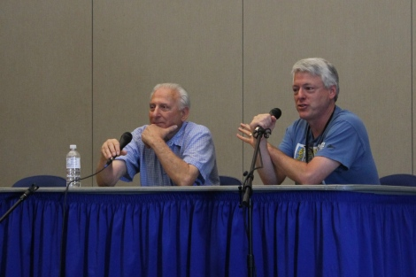 Al (left) was joined by Joe Field to discuss the comic book industry.
