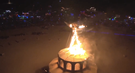The Burning Man that is lit on fire and exploded every year.