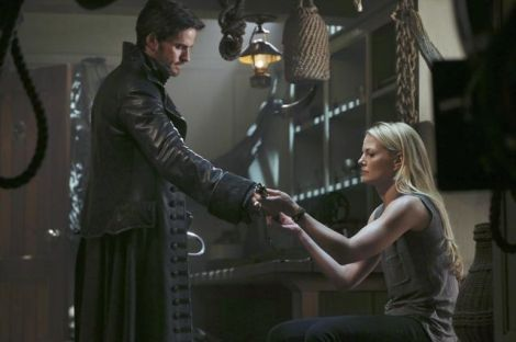 At least Emma and Hook can share a moment where he gives her Neal's sword from when he was with the Jolly Roger's crew.