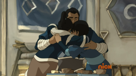 Awww... Sweet family moment before being inevitably ruined by a Northern Water Tribe douchecanoe.