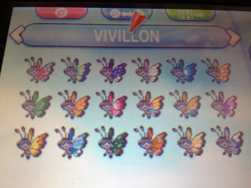 How To Complete Your Vivillon Collection Nerdophiles Beauteous Vivillon Patterns