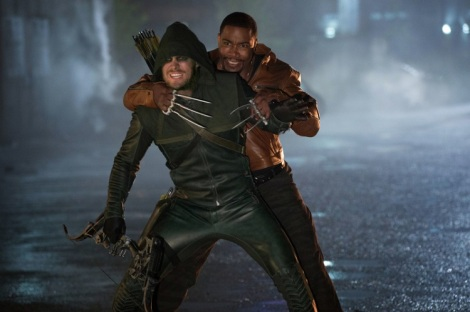 Oliver gets into a fight with a wolverine wannabe