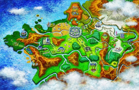 Seeming to draw heavily from European influences, the Kalos region is made up of Coastal, Central, and Mountain regions with the style- and technology-driven Lumiose City as its epicenter.