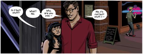 "Why Matt Fraction goes by ""Butt Stuff Werewolf"" is still a mystery. [fuckyeahsexcriminals.tumblr.com]"