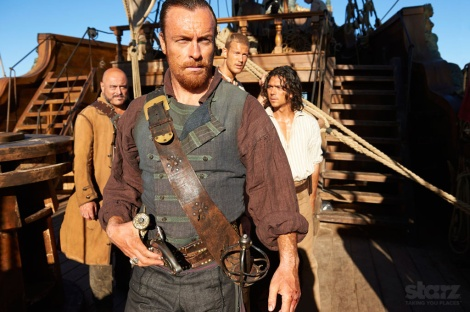 From left to right: Gates, Captain Flint, Billy Bones and John Silver.