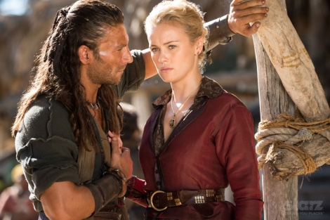 Rival Captain Charles Vane (or as I like to think of him... Jody! from Shameless) and Eleanor Guthrie.