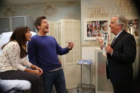 Yay for excited new parents! [parksandrecreationnbc.blogspot.com]