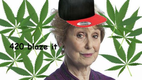 Are we just going to pretend that we didn't find out that Mrs. Hudson's weak spot is weed?