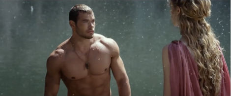 "The shirtless Kellan Lutz. With the ""snow"" every time they meet. Literally. Every. Time."