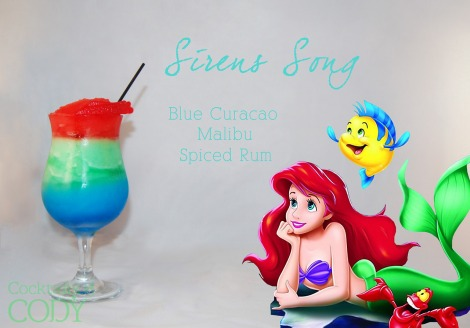 Each liquor is blended with ice and then layered with some Swedish fish on top? I'm guessing. This would be perfect for kids if you replace the booze with some fruit juice!