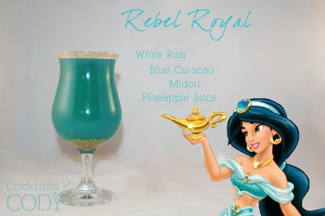 """It seems like this one is more of a """"mix until you get the color right"""" sort of ratio, probably while adhering to the 1:2 mixing guidelines. Gold sprinkles at bottom and rim for garnish!"""