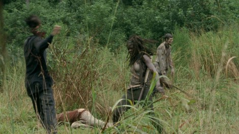 When it starts like this, it's no wonder Michonne got the most kills for this episode.