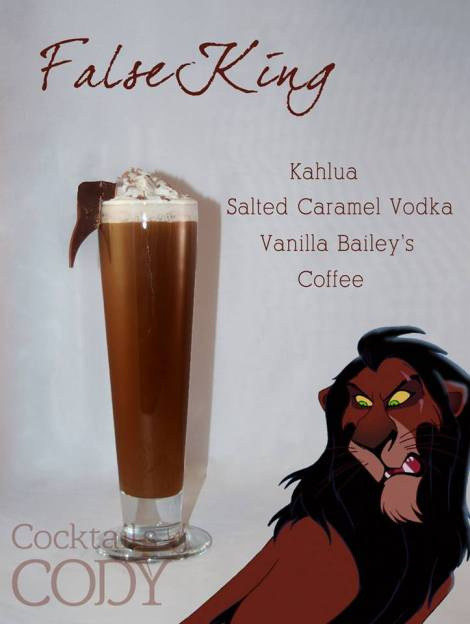 A shot of Kahlua, shot of salted caramel vodka, shot of vanilla Bailey's mixed with three of some strong coffee. Garnish with some whipped cream and chocolate shavings.