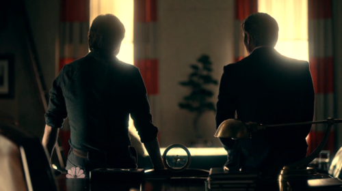 hannibal and will sitting