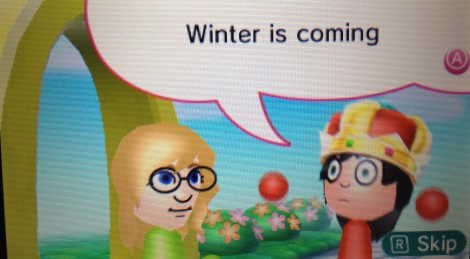This girl was super concerned about winter.