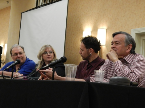 The panelists for the main Elementary panel.