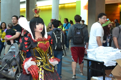 "Yaya Han- the Ubiquitous Face of Cosplay in her Red Queen cosplay from ""Alice: Madness Returns"""