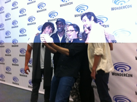 Jason Rothenberg joins his cast for a #selfie! (Excuse my horrible Apple photography skills.)