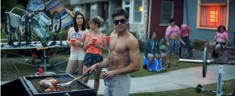 Just grilling in my perfect body, too cool for school bro.