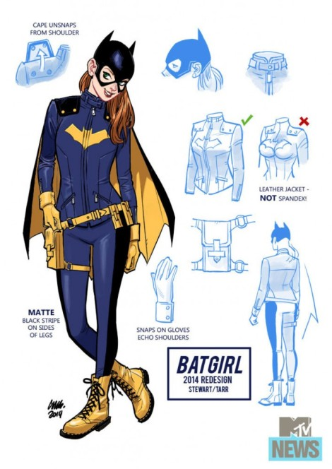 A practical superheroine uniform? BLASPHEMY! [mtv.com]