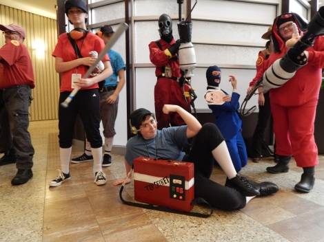 Team Fortress 2 cosplayers included.
