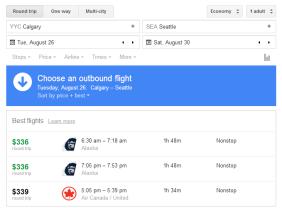 Google flights.