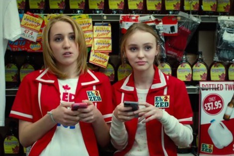 "Canadian convenience store workers, also the main characters for Smith's follow-up ""Yoga Hosers"" [wickedhorror.com]"