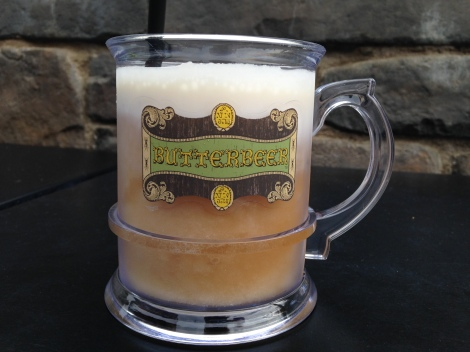 Frozen butterbeer in a souvenir mug. Well, now you know what I'll be drinking my beer out of forever.
