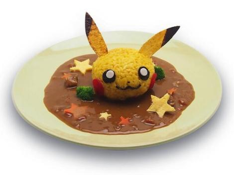 I had the Pikachu Curry. It was delicious, but almost too cute to eat!
