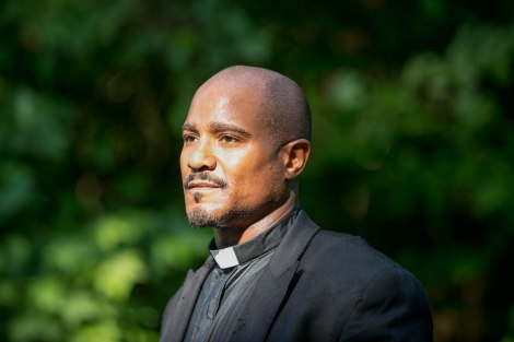 This is a new face we'll be seeing in Season 5. Father Gabriel, friend or foe? [AMC]